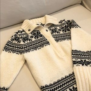 J Crew Mohair-Wool Holiday Sweater